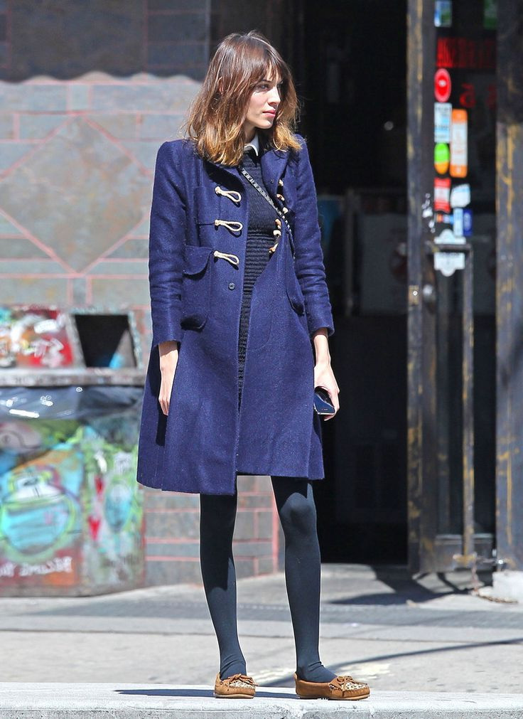 What To Wear With A Navy Coat 2017