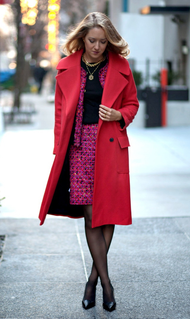 How to Wear Red Coats – Street Style Inspiration 2017 ...