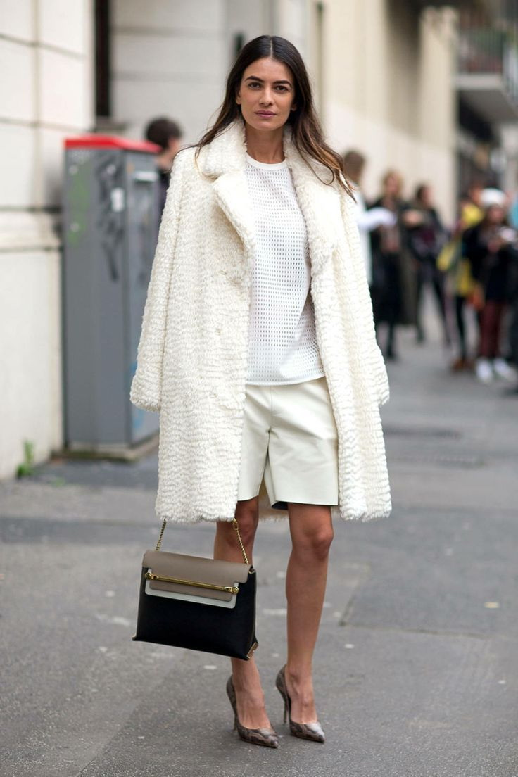 Street Style Trends: White Coats For Women 2017 | FashionTasty.com