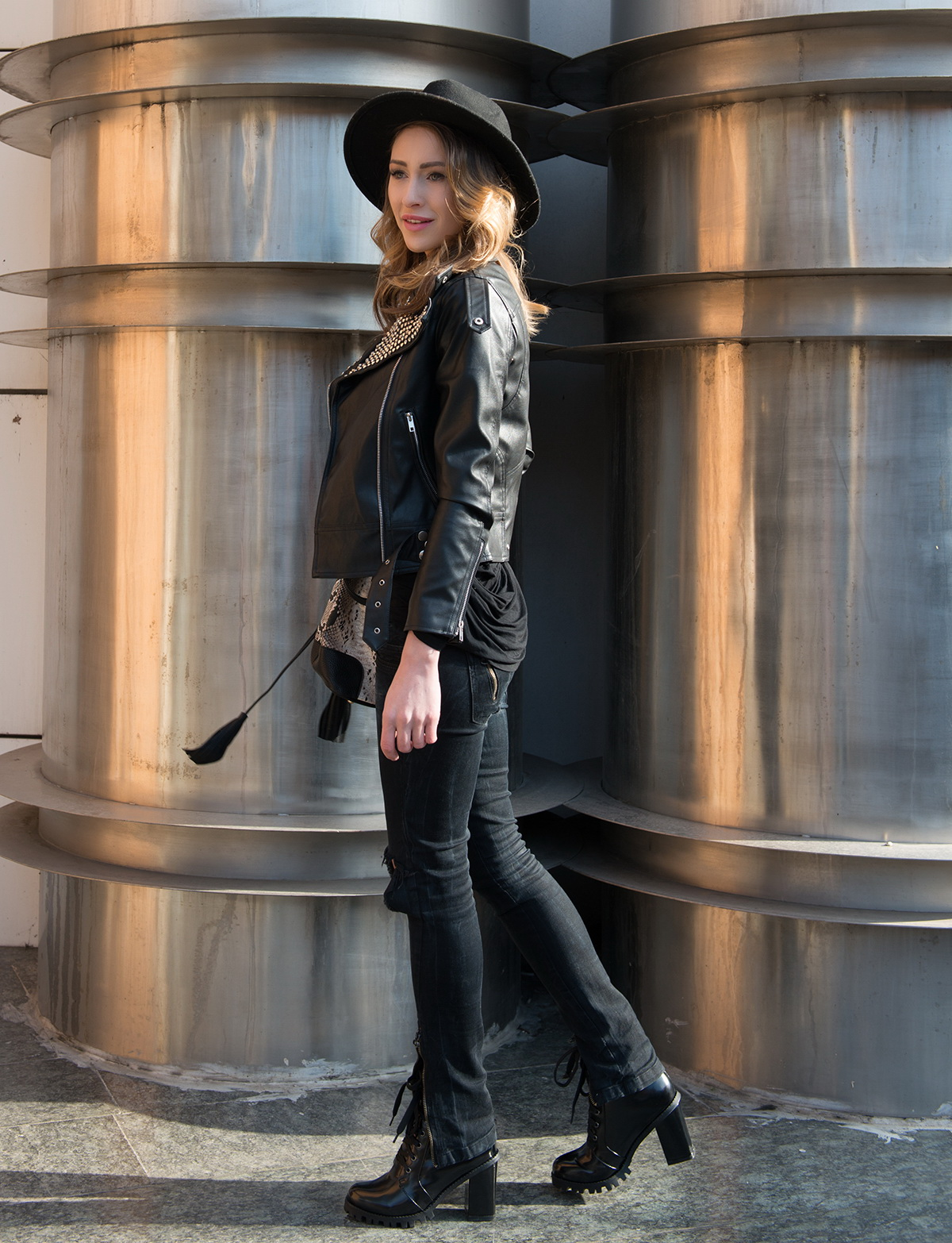 All Black Outfits With Leather Jacket 2017 | FashionTasty.com