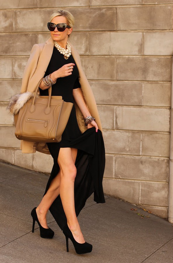 Black dress and matching coat