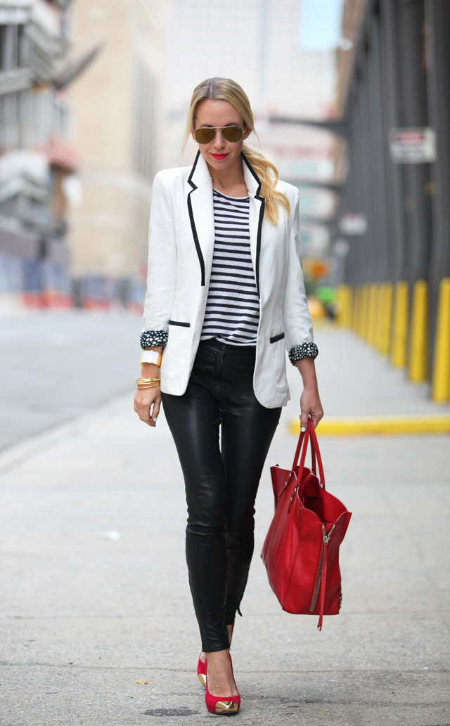 30 Inspiring Ways To Wear A White Blazer 2019