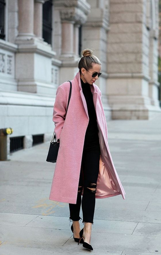 Pink Coat Outfit Ideas 2018 | FashionTasty.com
