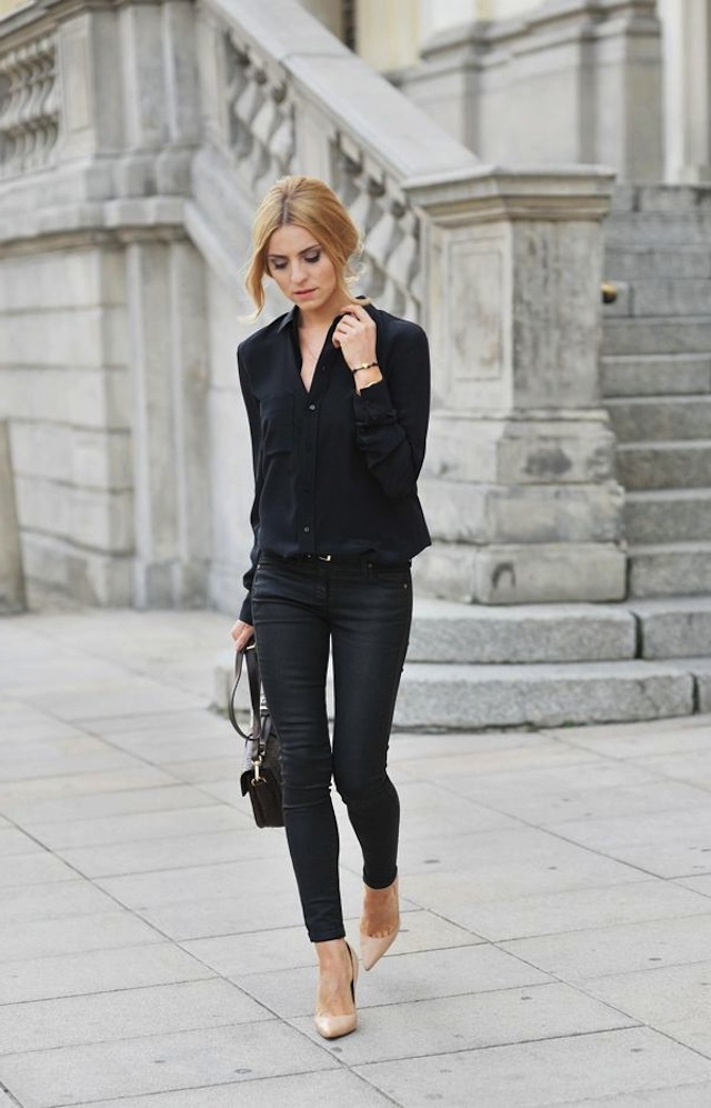 All Black Outfit Ideas For Work 2017