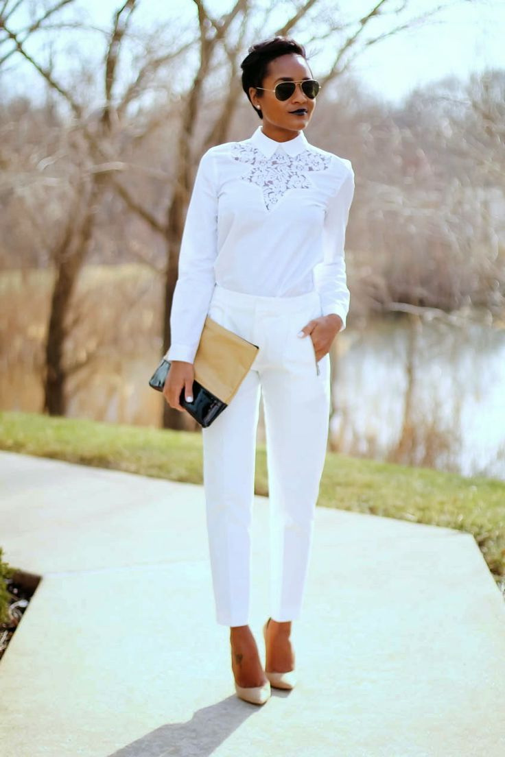All White Office Outfit Ideas 2019