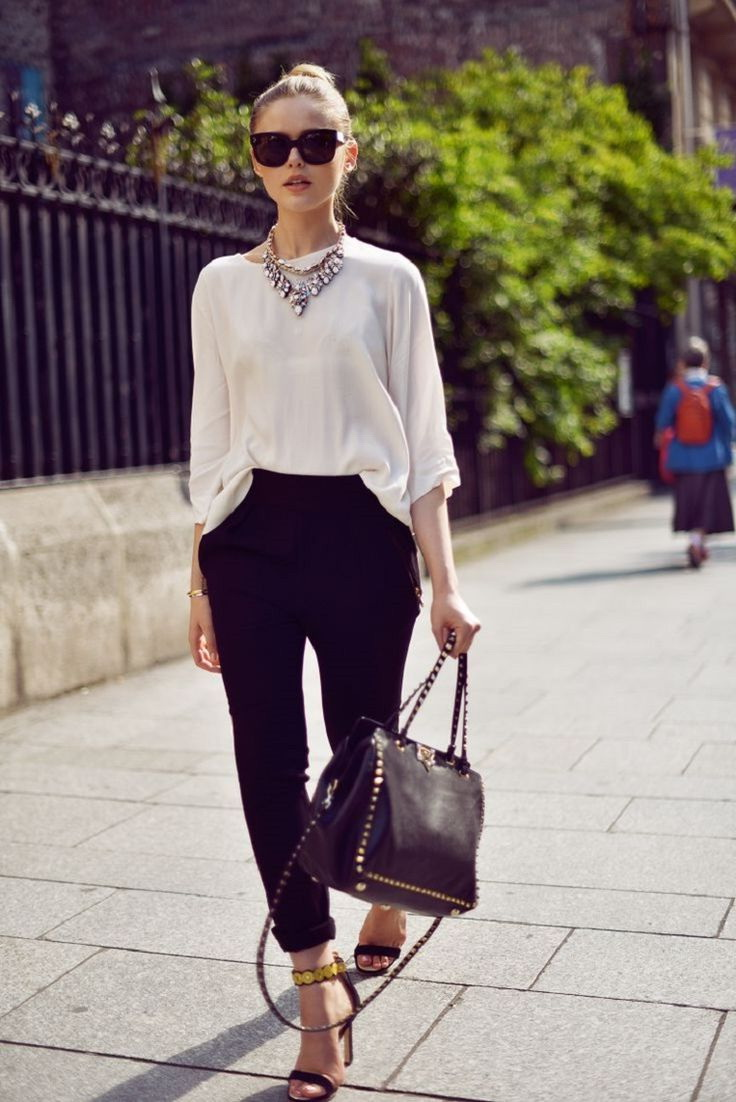 Black & White Outfit Ideas For Work 2021