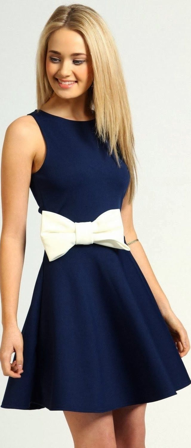 Blue Dresses Outfit Ideas 2017