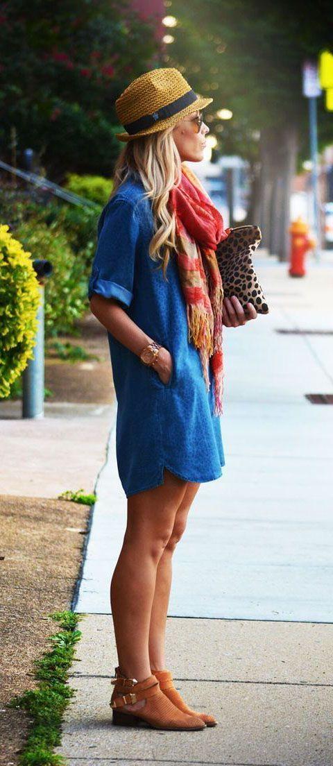 Blue Denim Dresses 2019