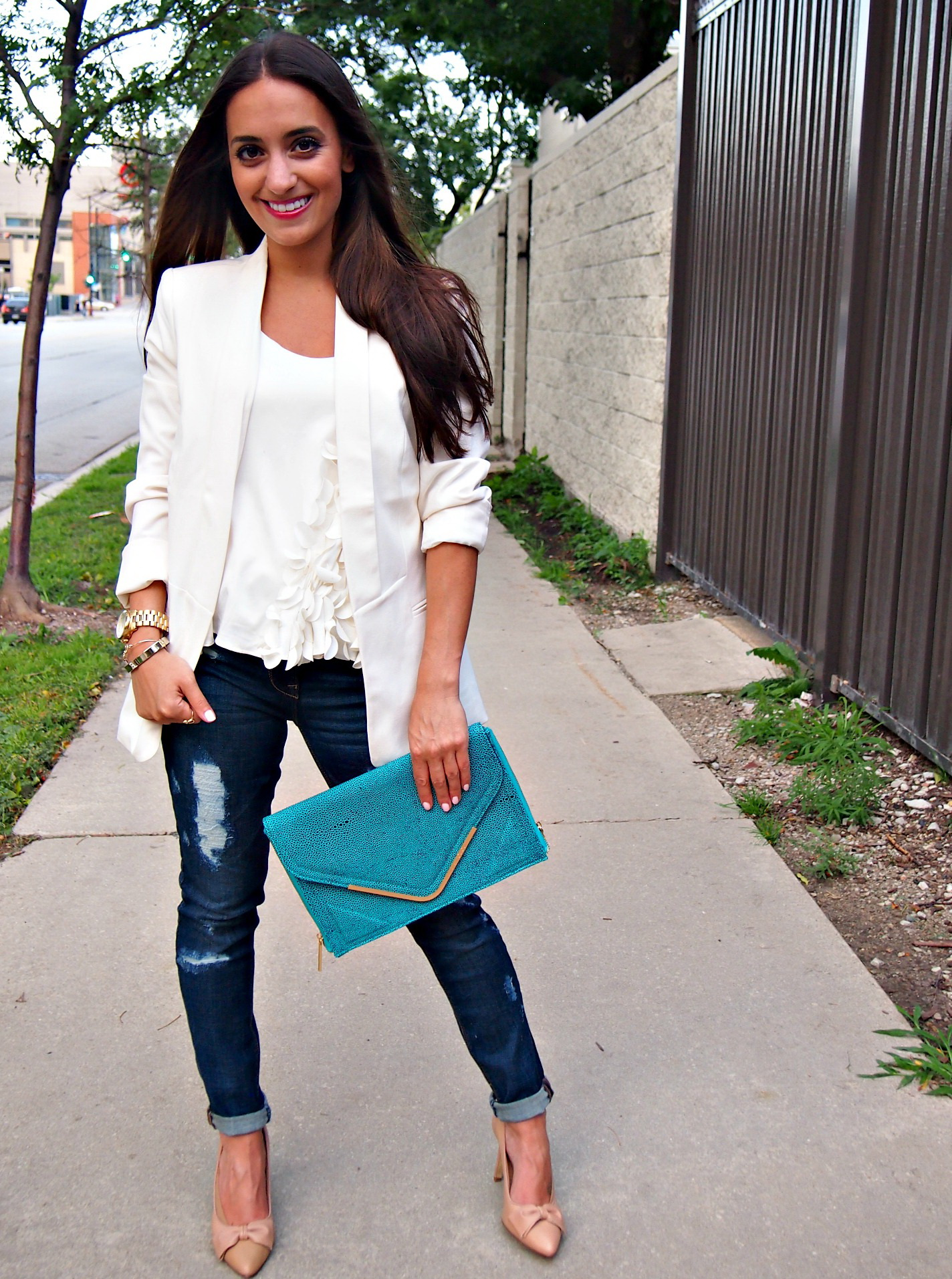 30 Inspiring Ways To Wear A White Blazer 2017