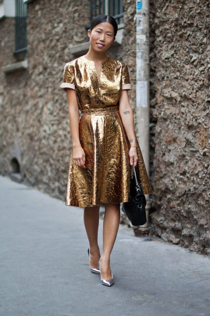 Metallic and Sequined Dresses 2019