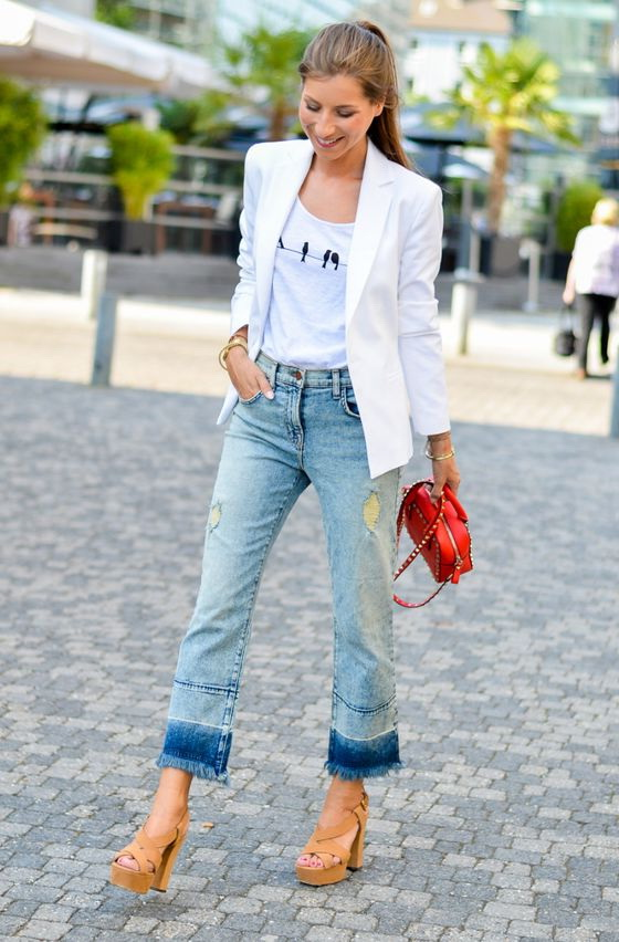 How To Wear: Wide Leg Jeans For Women 2017 | FashionTasty.com