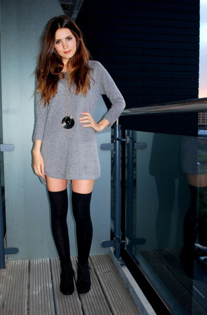 Tight Sweater Dress with Heels