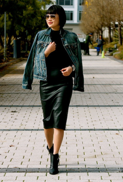 15 Ways To Style A Leather Dress 2019