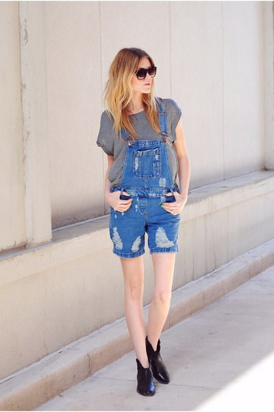 Denim Shortalls Outfit Ideas 2020