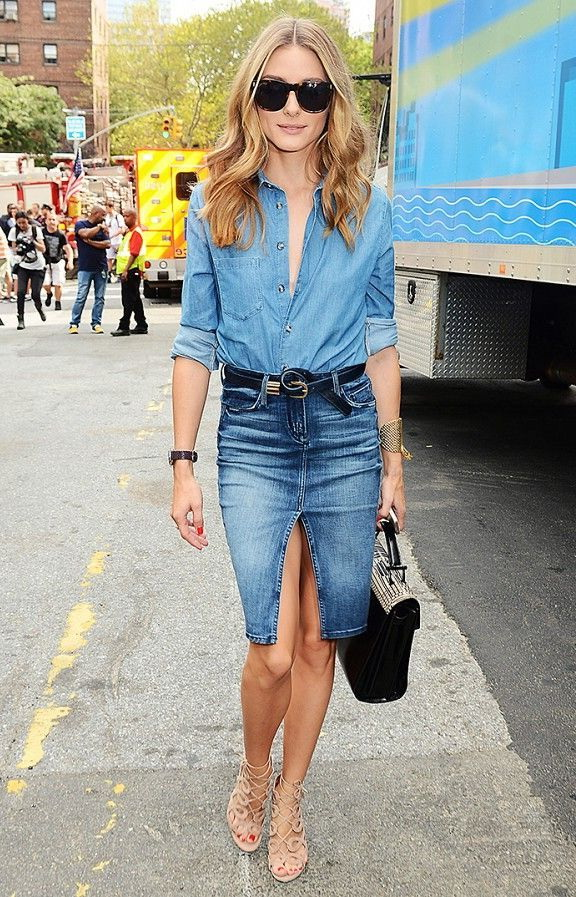 Denim Skirts Outfit Ideas 2017
