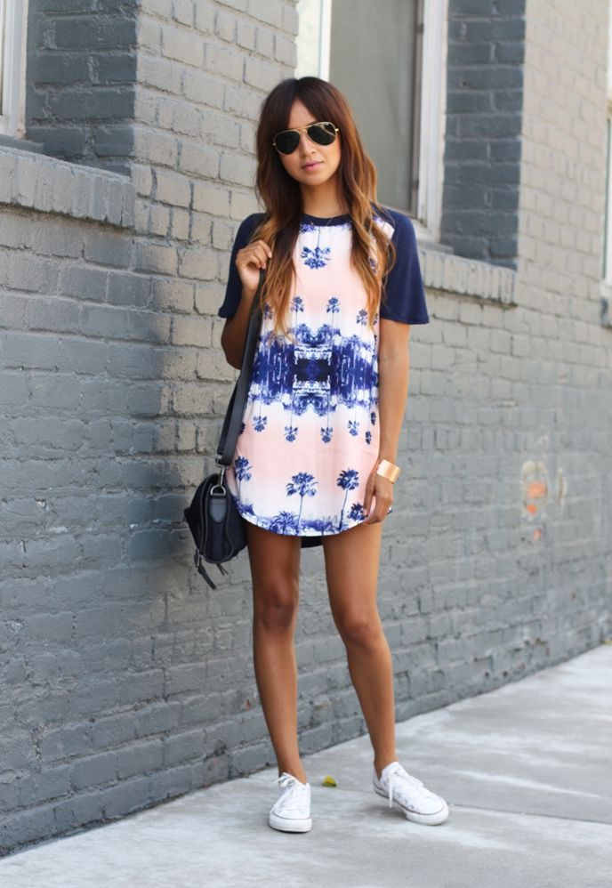 25 Ways To Wear Dresses With Sneakers 2020