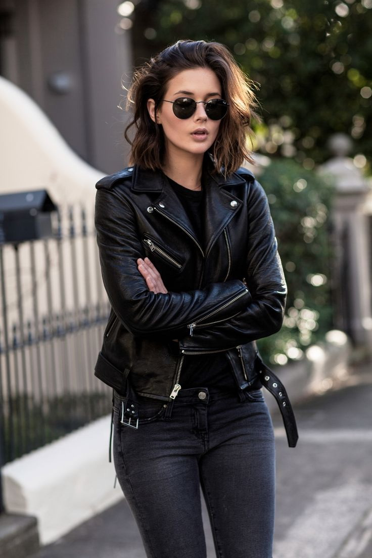 All Black Outfits With Leather Jacket 2021
