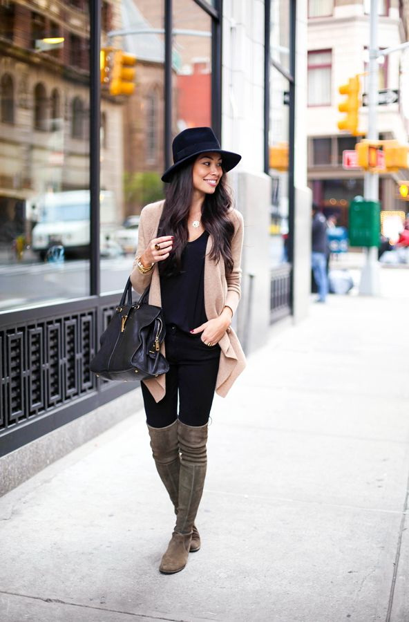 How to Wear Over-the-Knee & Long Boots 2017 | FashionTasty.com