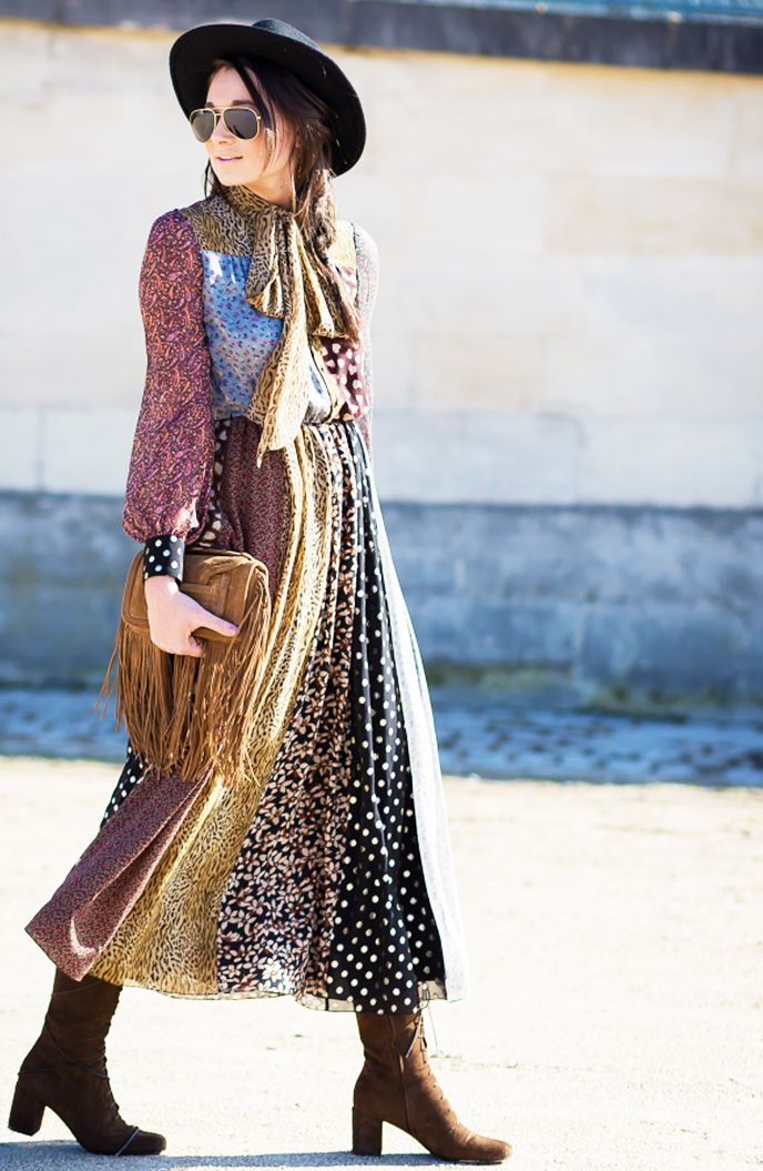 How To Wear Boho Dresses In Winter 2020
