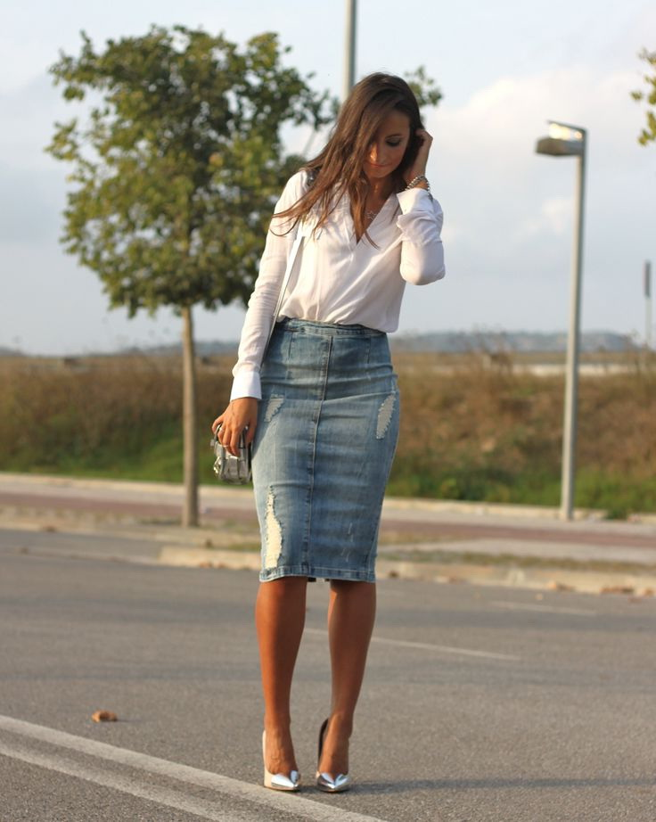 denim skirts ideas 2018 fashiontasty