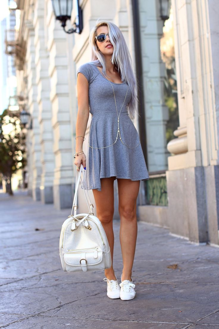25 Ways To Wear Dresses With Sneakers 2019 Fashiontasty Com