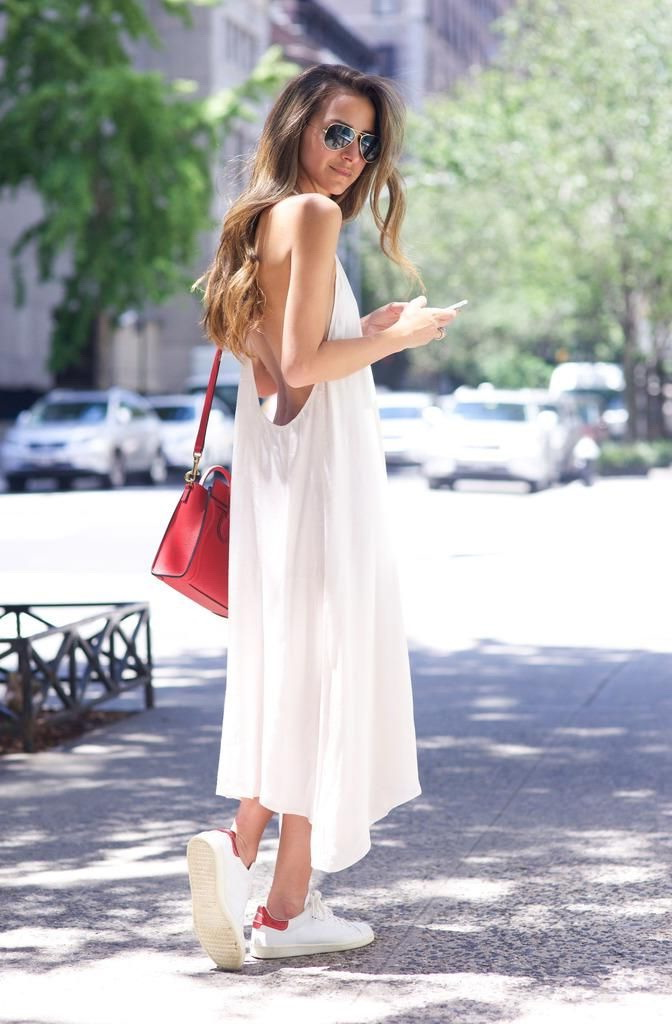 25 Ways To Wear Dresses With Sneakers 2021