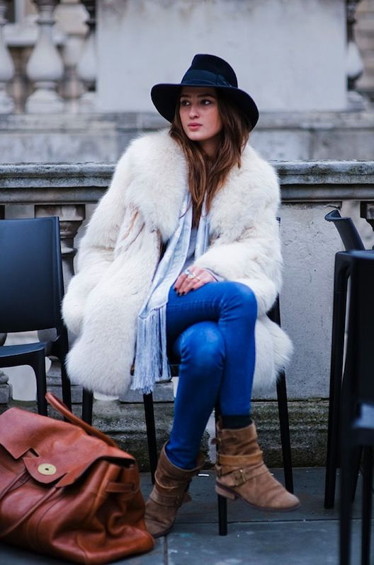 Fancy Outfit Ideas With Fur Coats 2019