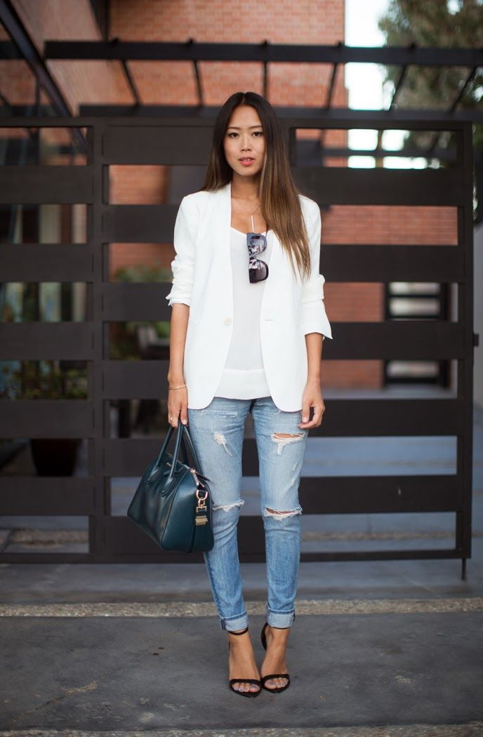 30 Inspiring Ways To Wear A White Blazer 2021