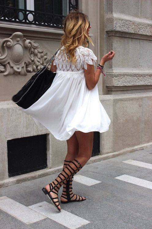 How To Wear Dresses With Gladiator Sandals 2017