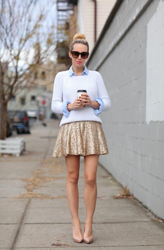 30 Ways To Wear Metallic Skirts 2019