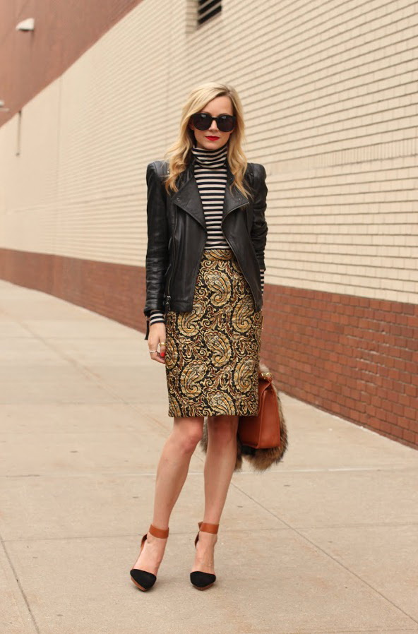15 Ways To Style Leather Jacket With Skirts 2019