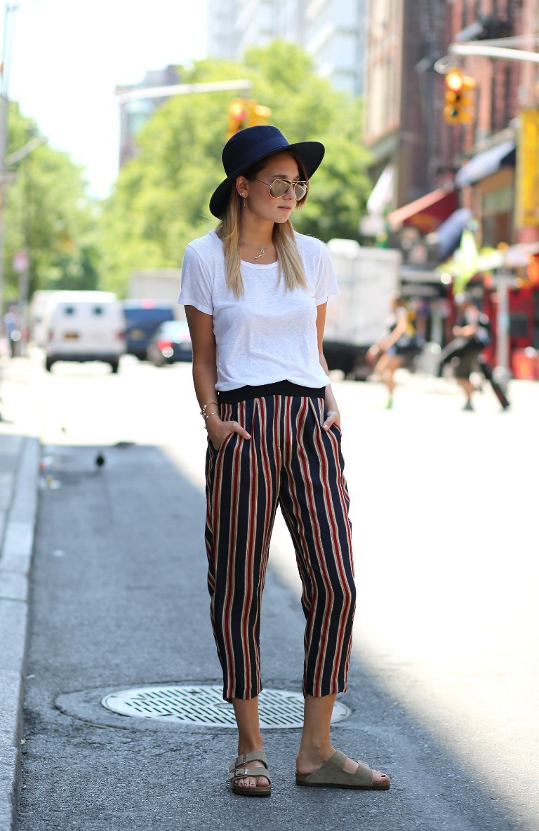 What To Wear With Striped Pants (Outfit Ideas) 2017