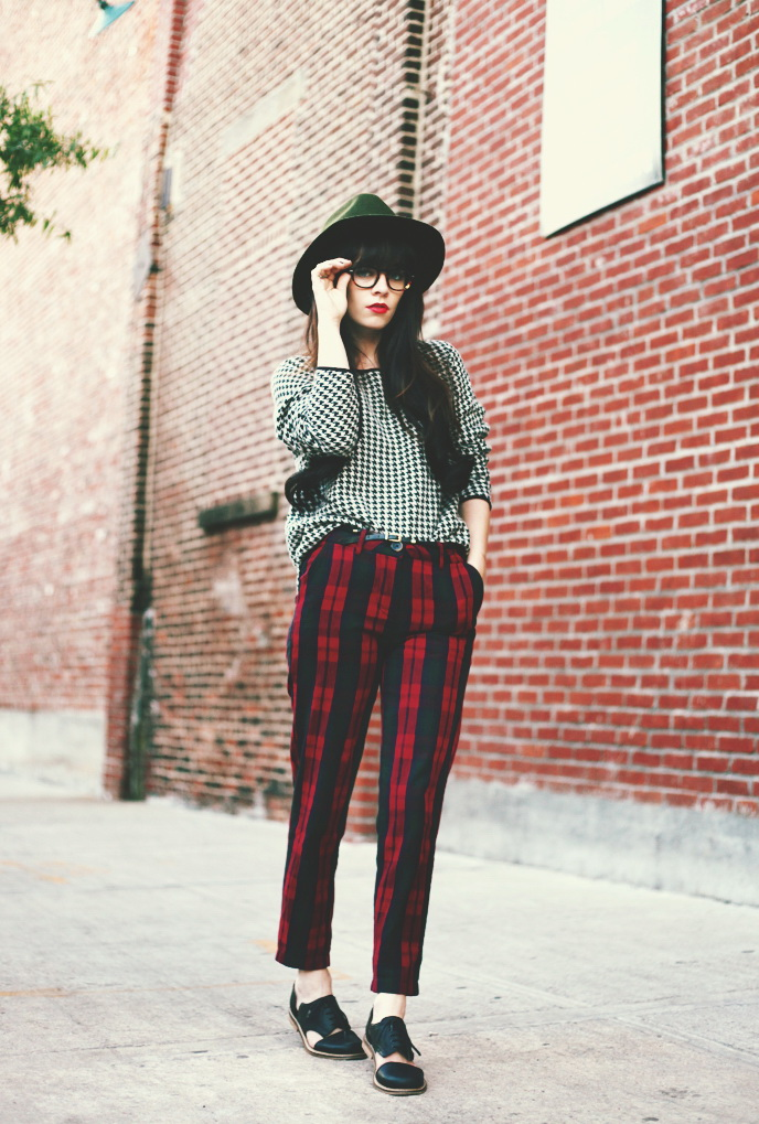 Checkered Pants Outfits 2017