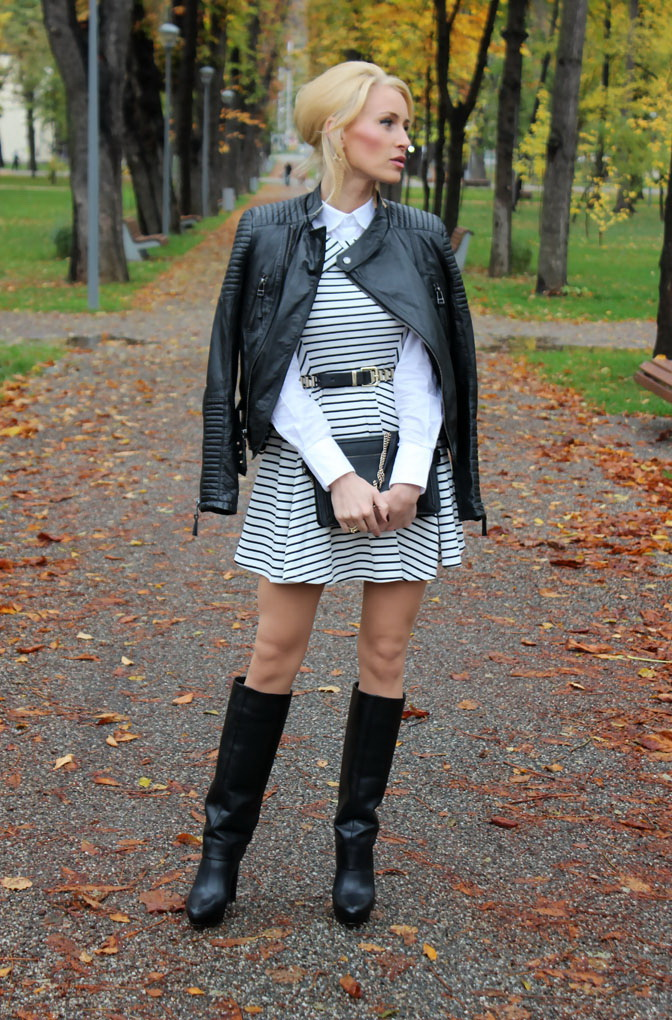 How To Wear Leather Jackets With Dresses 2019