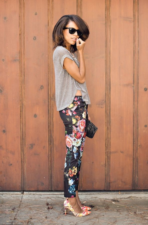 Outfit Ideas With Floral Pants 2020