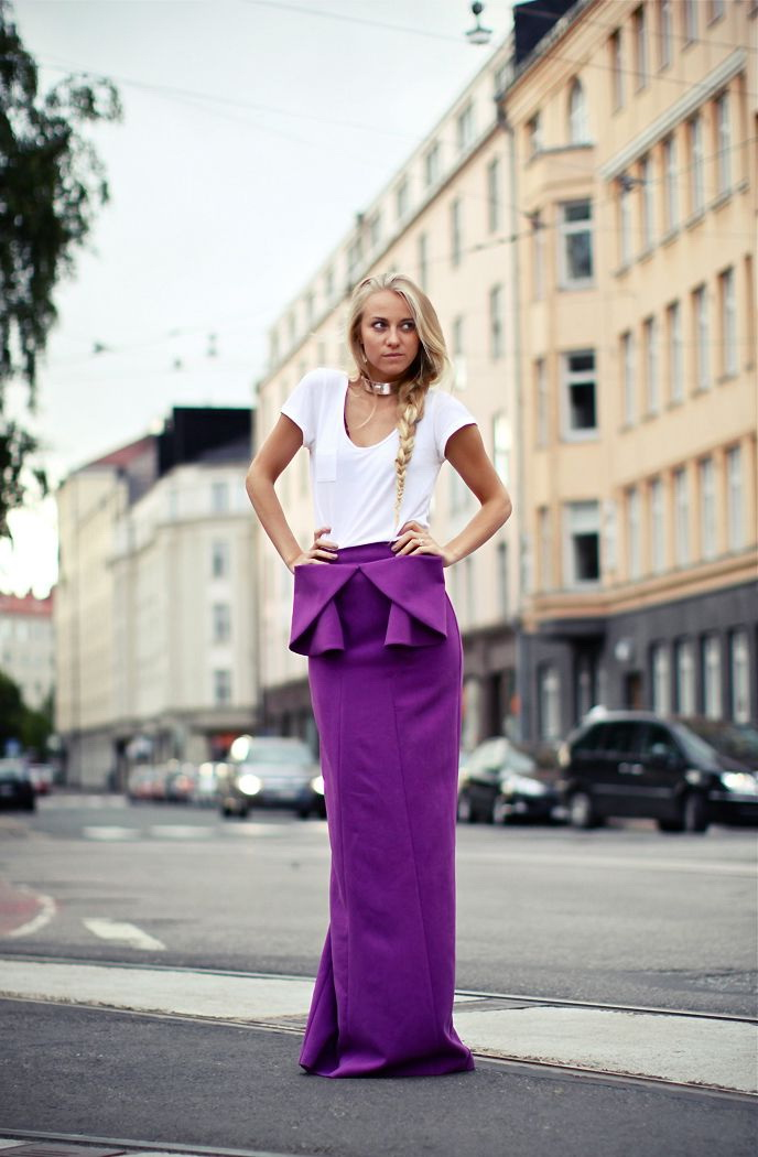 Statement Maxi Skirts Outfits 2019
