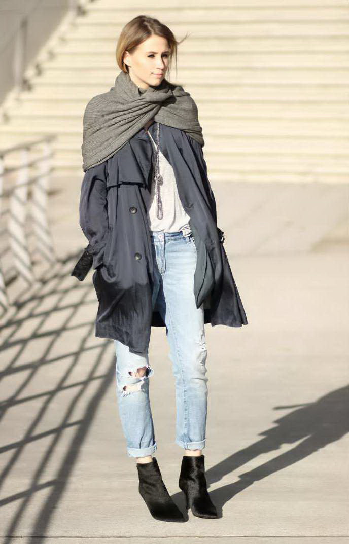 How To Style Oversized Scarves For Women 2020