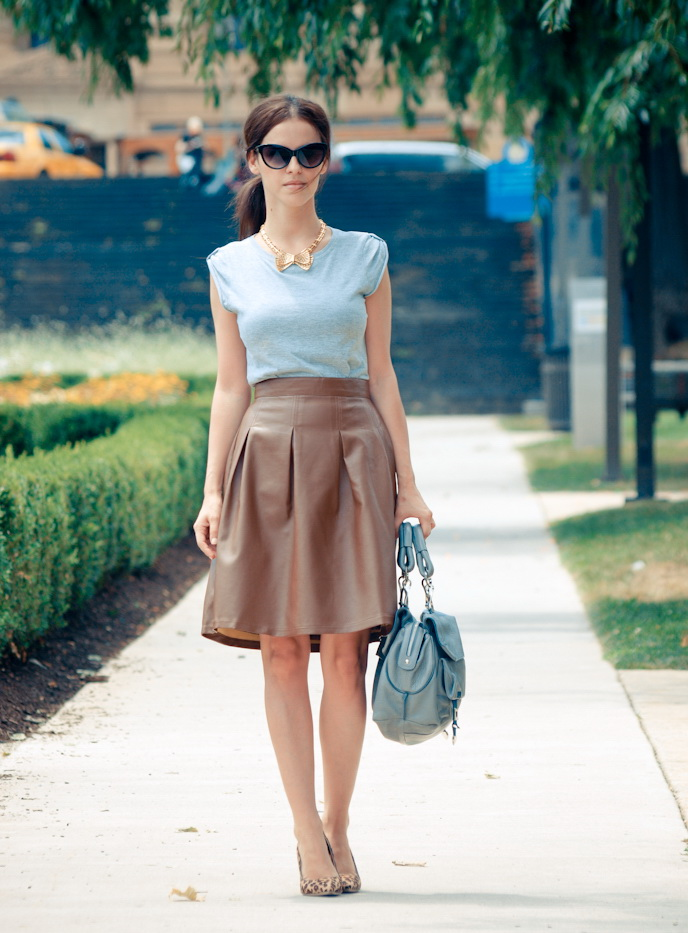 Colored Leather Skirts And How To Wear Them 2019