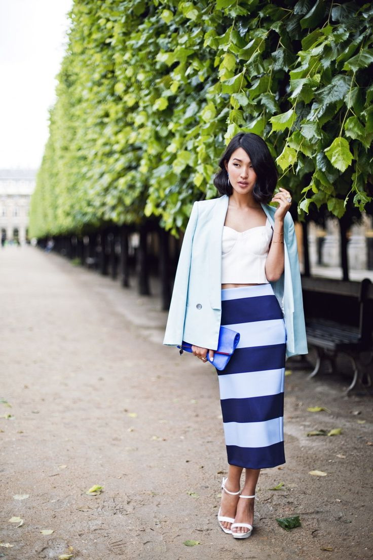 Striped Skirts Designs And 11 Ways How To Wear Them 2020