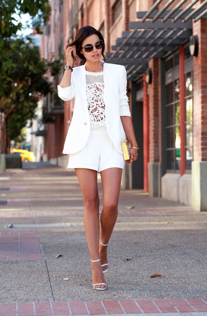 Women's White Shorts And How To Wear Them 2018 | FashionTasty.com