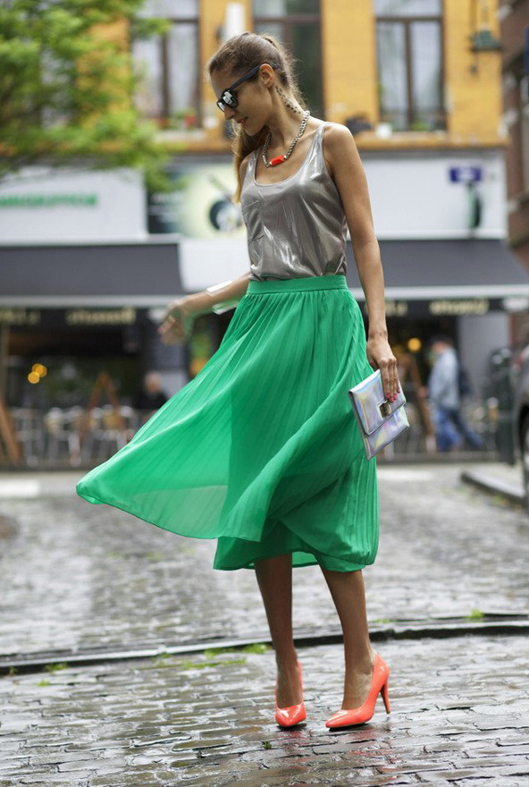 Green Skirt Outfits 2019
