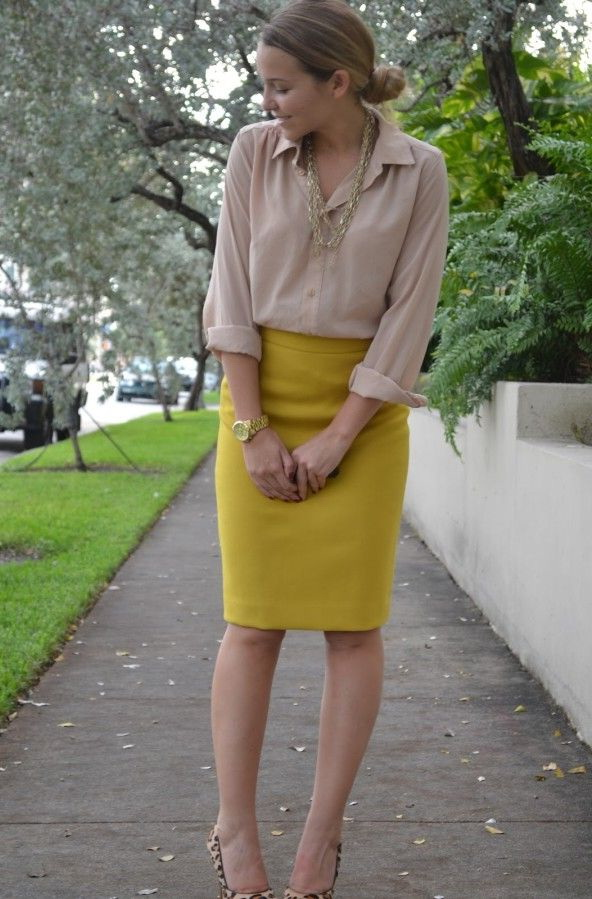 What To Wear With A Yellow Skirt 2018 Fashiontasty Com