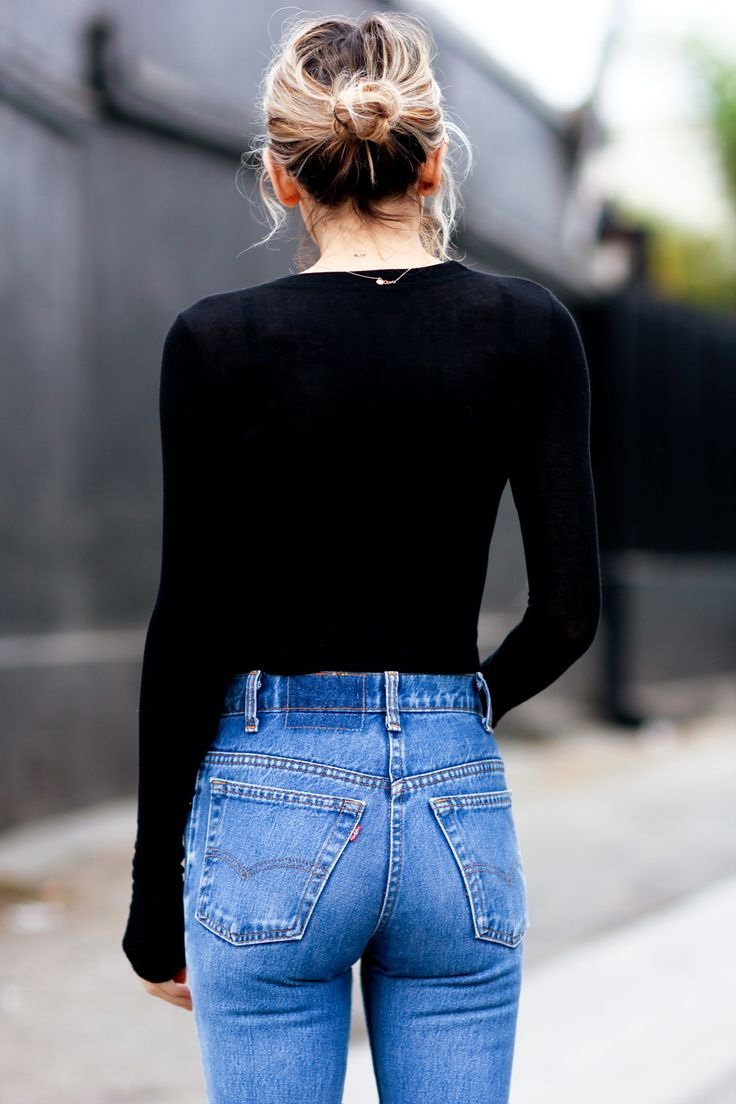 How To Wear High Waisted Jeans (Outfit Ideas) 2018 | FashionTasty.com