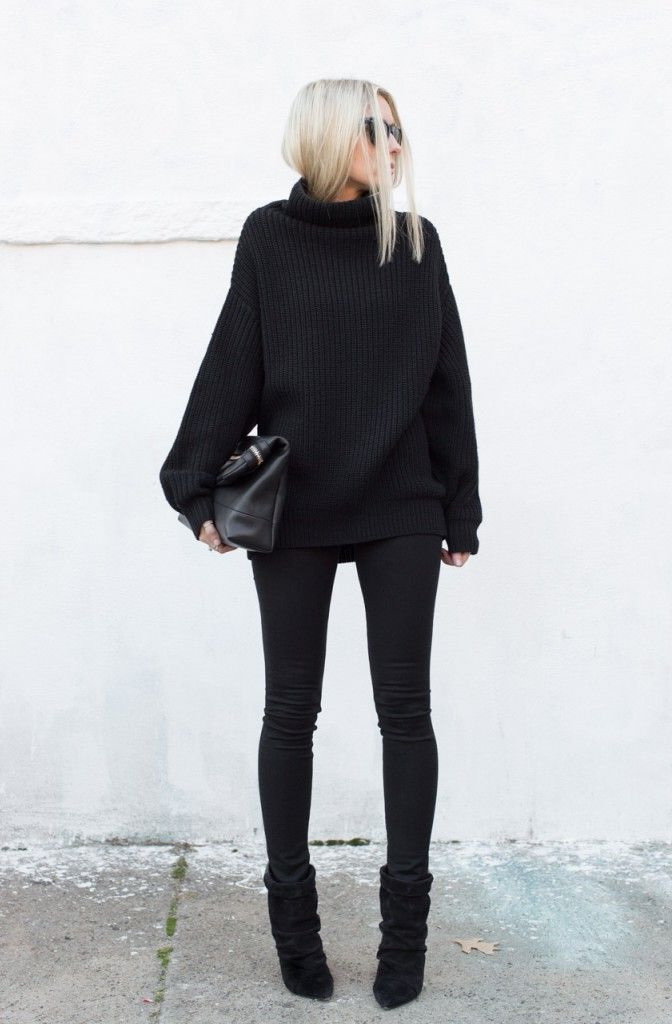 Women's Black Turtlenecks Outfit Ideas 2018