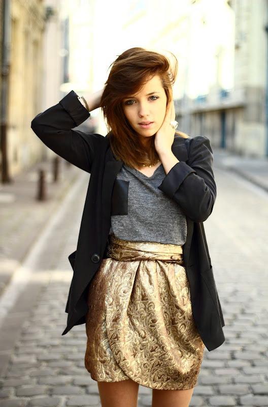 30 Ways To Wear Metallic Skirts 2020