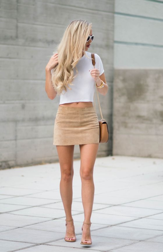 Suede Skirts Designs And Outfit Inspiration 2021