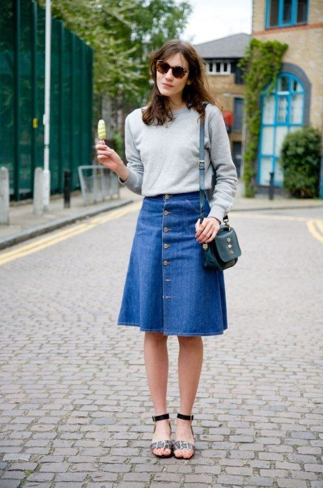 A-line Skirt Outfit Ideas 2019
