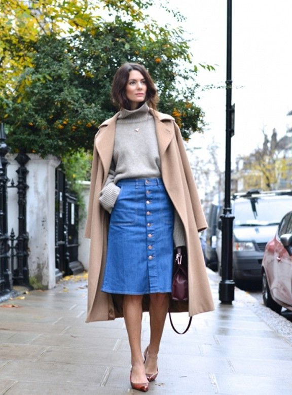 10 Ways To Wear Knee Length Skirts 2019
