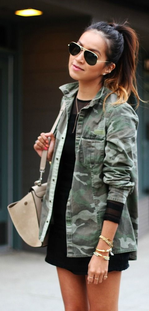 e3bcf52375708 Army Jacket Outfits For Women 2019 | FashionTasty.com