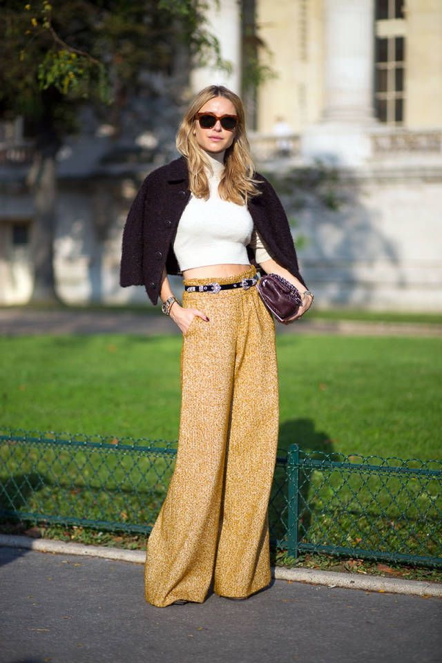 25 Ways To Wear Wide Leg Pants 2017